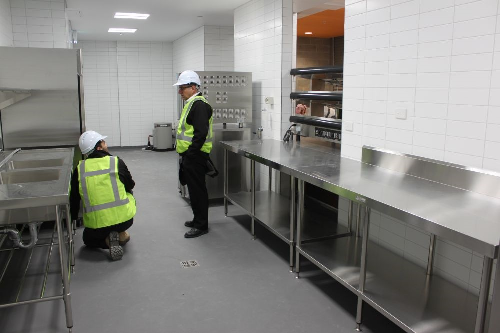 Simply Stainless stainless steel installed in Perth Stadium