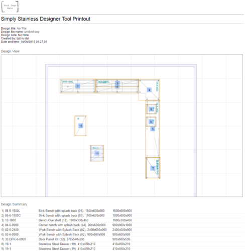 Kitchen designer tool user guide - step 11