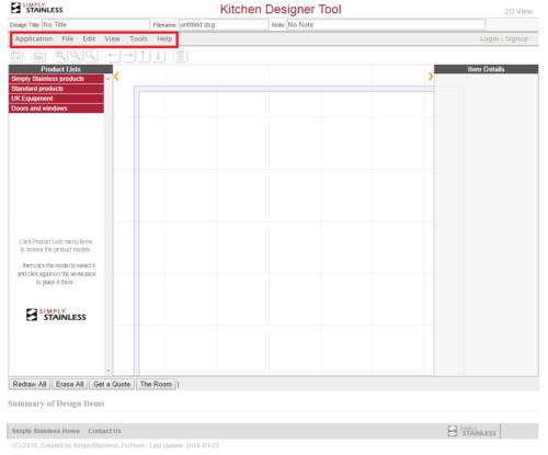 Kitchen designer tool user guide - step 3