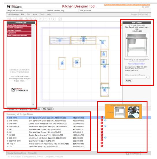 Kitchen designer tool user guide - step 5